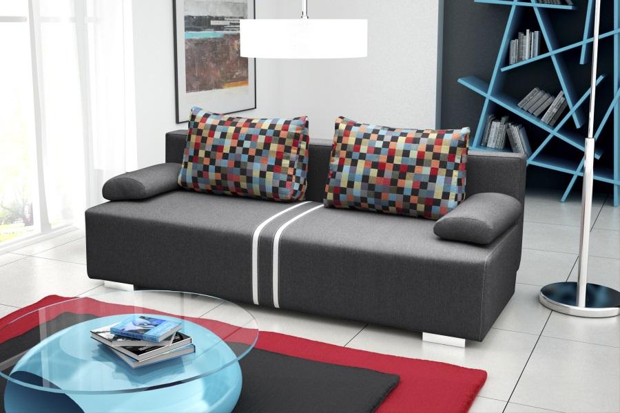 3 sitzer sofa schlaffsofa matrix bettfunktion und for Schlafsofa 3 sitzer mit bettkasten