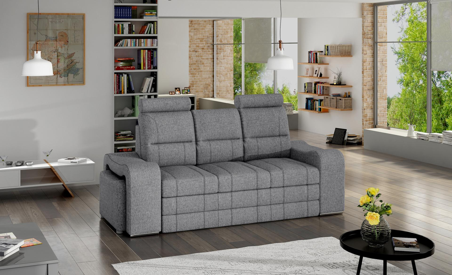 schlafsofa klappcouch 3 sitzer schlaffunktion bettkasten couch sofa klappsofa ebay. Black Bedroom Furniture Sets. Home Design Ideas