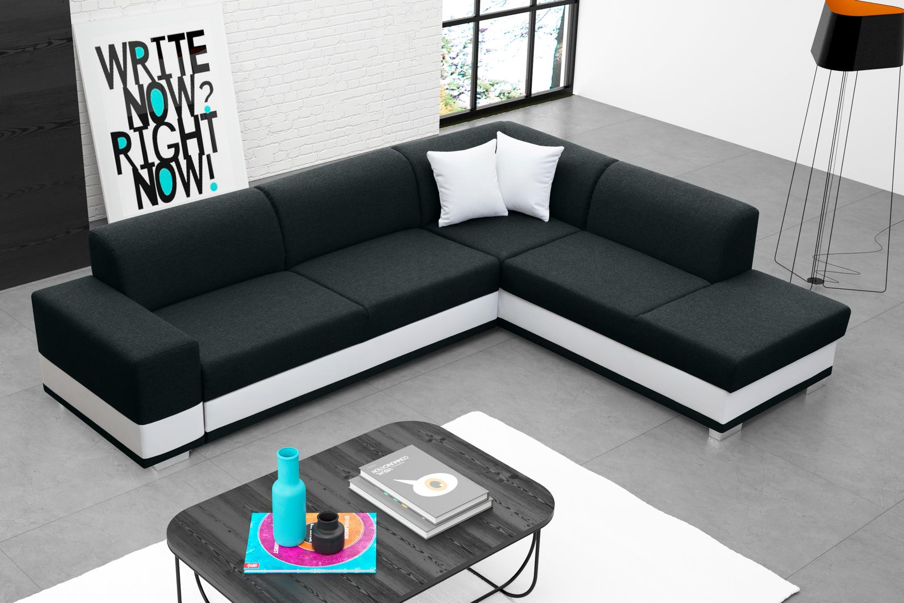 sofas ledersofa darco mit bettfunktion bettkasten ecksofa schlaffunktion. Black Bedroom Furniture Sets. Home Design Ideas