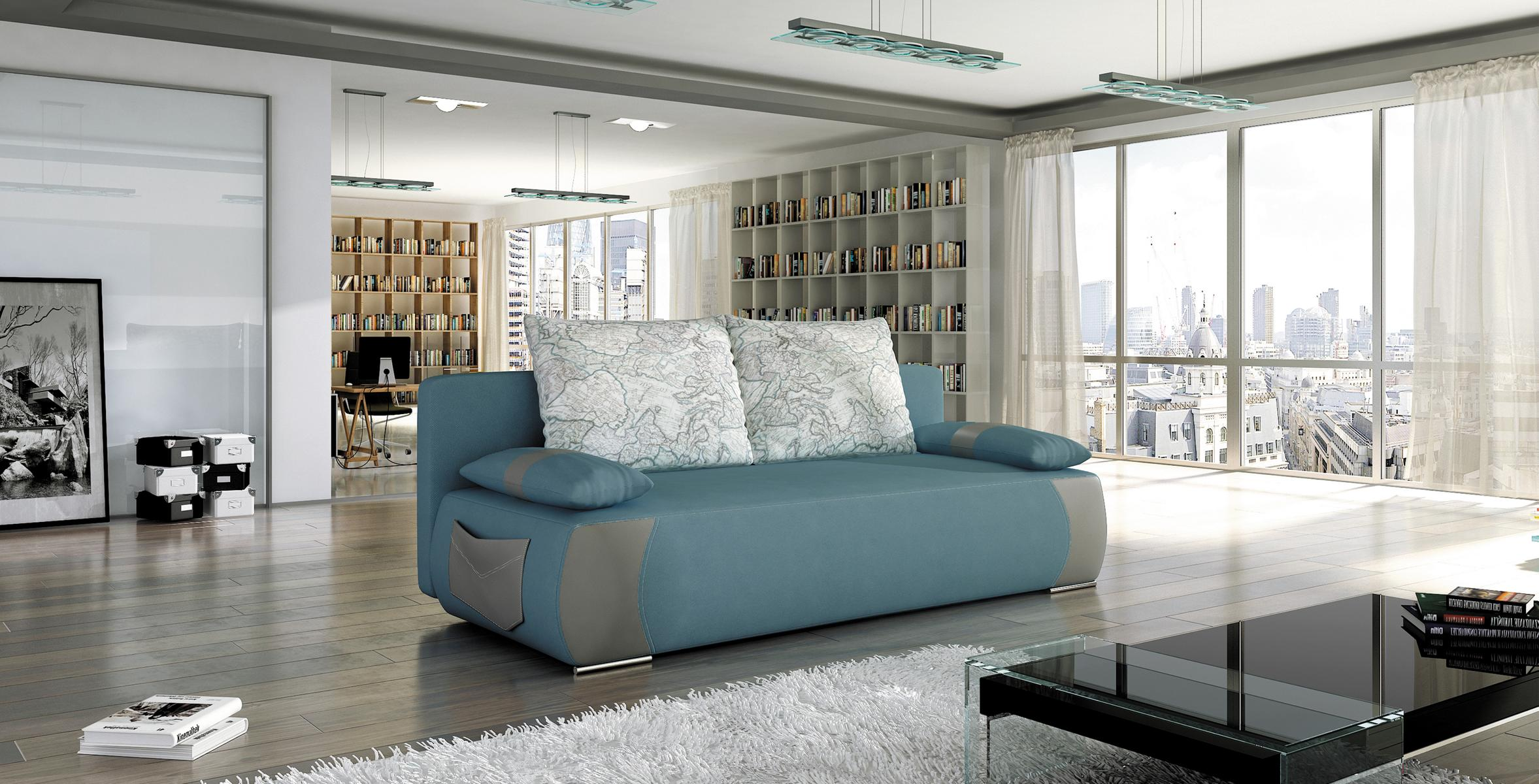 Sofa schlafsofa designer 3 sitzer sofa mit bettfunktion for Schlafsofa 3 sitzer mit bettkasten