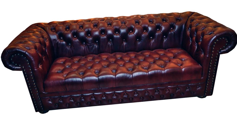 chesterfield ledersofa 3 sitzer schlafsofa mit matratze. Black Bedroom Furniture Sets. Home Design Ideas