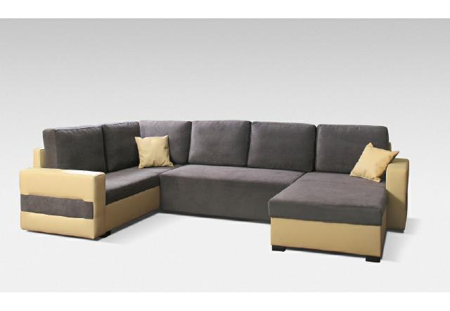 Ecksofa sofa couch textil leder stoff polster garnitur for Ecksofa textil