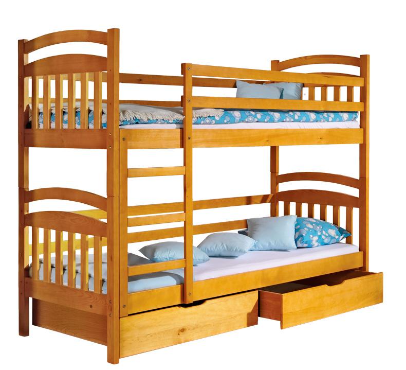 doppelbett kinderbett jugendbett bettkasten bett kiefer 2 x betten hochbett irek www. Black Bedroom Furniture Sets. Home Design Ideas
