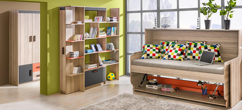 wohnwand schrankwand eck schrank kinderzimmer schreibtisch jugendzimmer neu. Black Bedroom Furniture Sets. Home Design Ideas