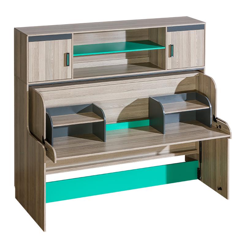 bett mit schreibtisch tisch betten kinderbett jugendbett stauraumbett regal neu www jvmoebel. Black Bedroom Furniture Sets. Home Design Ideas