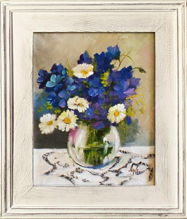blumenstrau blumen vase gem lde lgem lde bilder bild lbild mit rahmen g15841 ebay. Black Bedroom Furniture Sets. Home Design Ideas