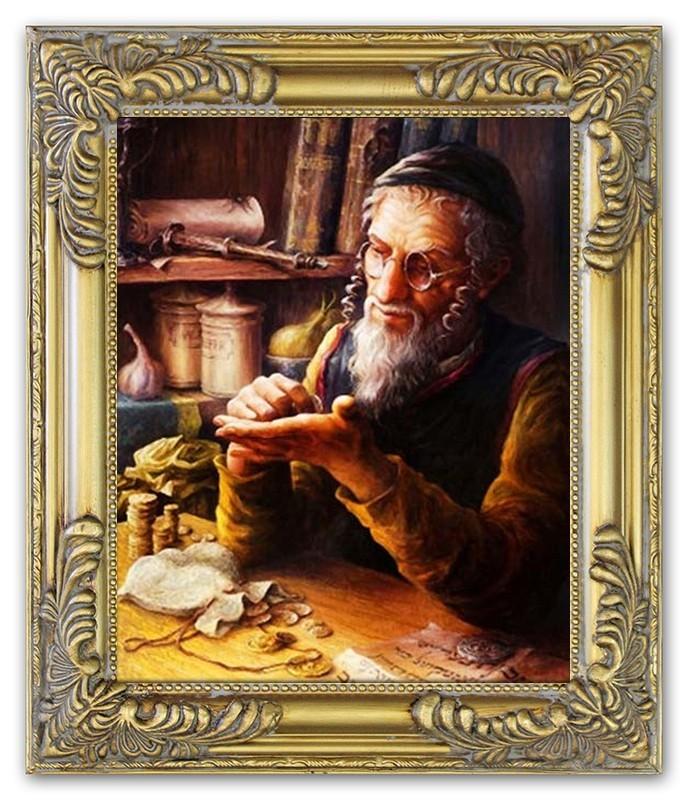 ÖLBILD ÖLBILDER Gemälde Bilder Bild Handgemalt Öl mit Rahmen Barock ...