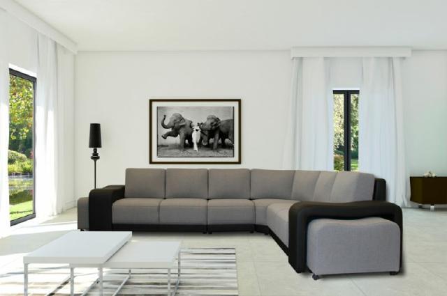 Ecksofa wohnlandschaft sofa couch textil polster couchen for Ecksofa textil
