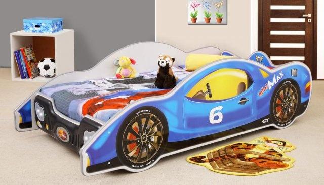 bett mit matratze kinderbett jugendbett auto bett betten mini max. Black Bedroom Furniture Sets. Home Design Ideas