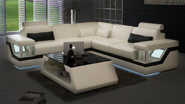 ledersofa xxl garnitur wohnlandschaft eckcouch leder ecksofa schwarz wei ebay. Black Bedroom Furniture Sets. Home Design Ideas