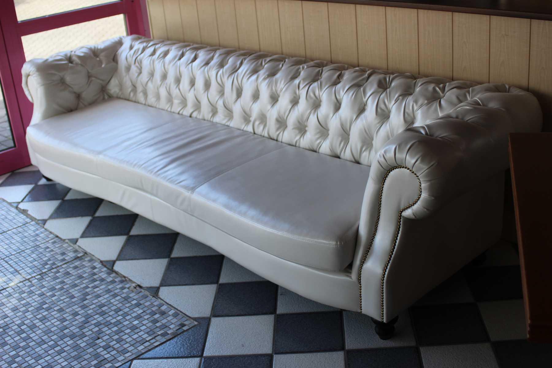 XXL Big Sofa 5 Personen Couch Polster Garnitur Chesterfield Sofort Lieferbar  Neu