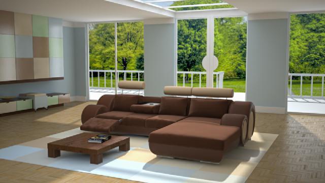 Leder ecksofa textil stoff polster sofas sofa couch for Ecksofa textil