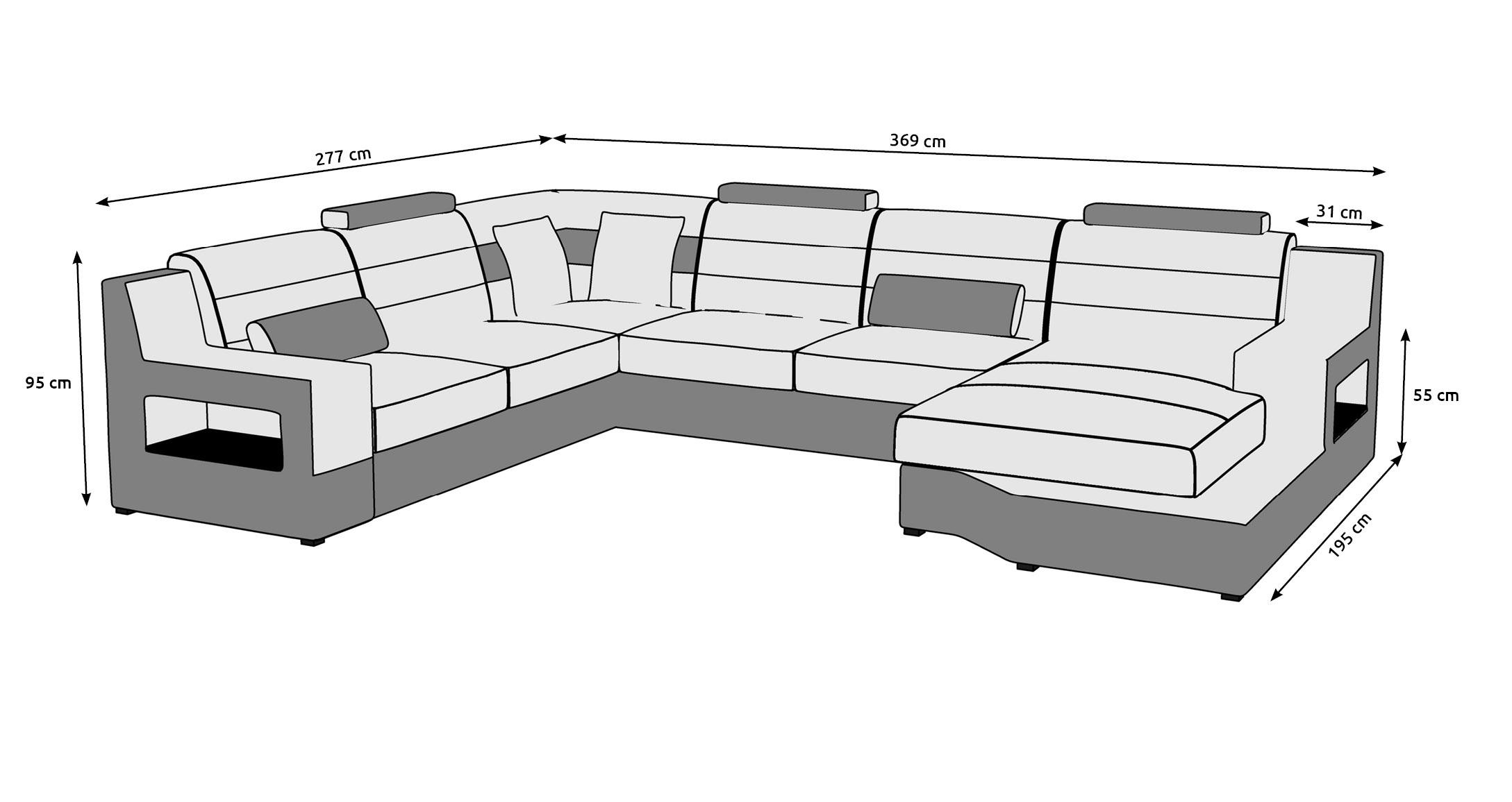 Wohnlandschaft Ecksofa Sofa Couch Polster Garnitur