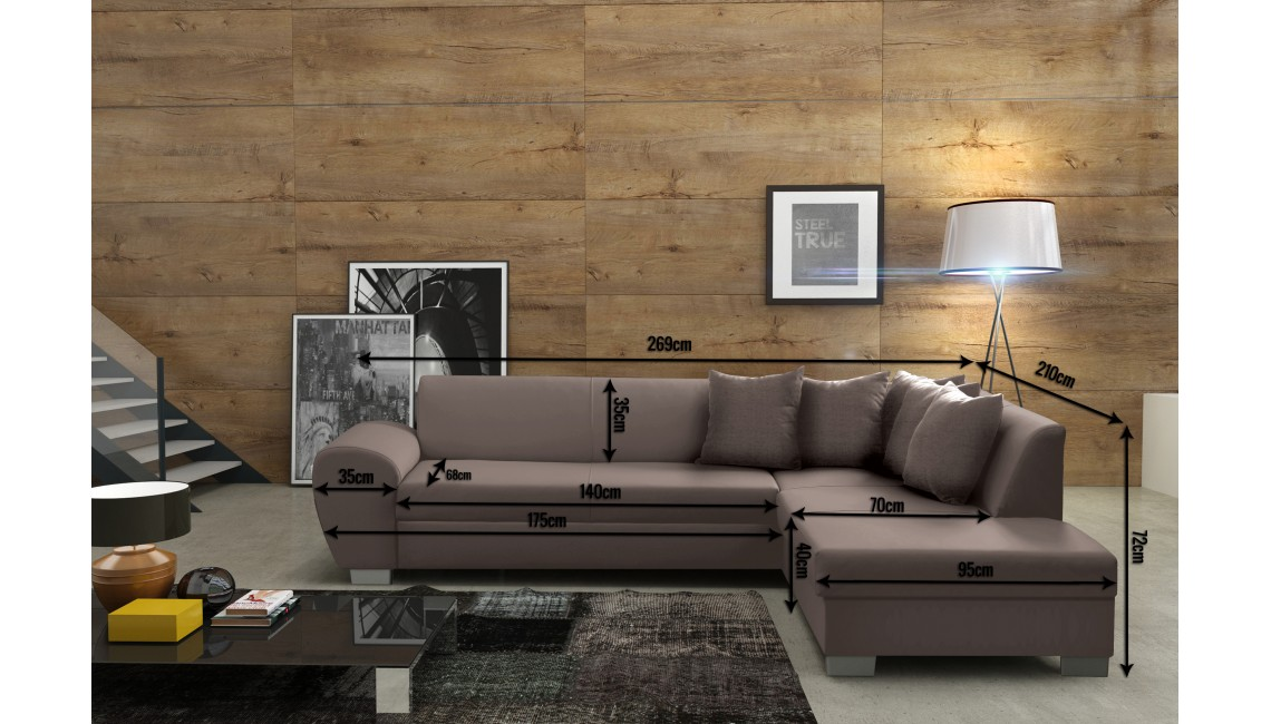 Designer sofa ecksofa stoffsofa bettfunktion sofa textil for Ecksofa textil