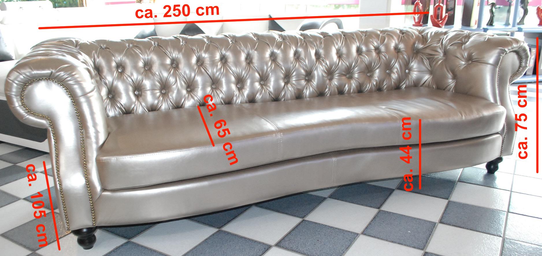 chesterfield charly 250cm sofort lieferbar la design m bel ledersofa sofa. Black Bedroom Furniture Sets. Home Design Ideas