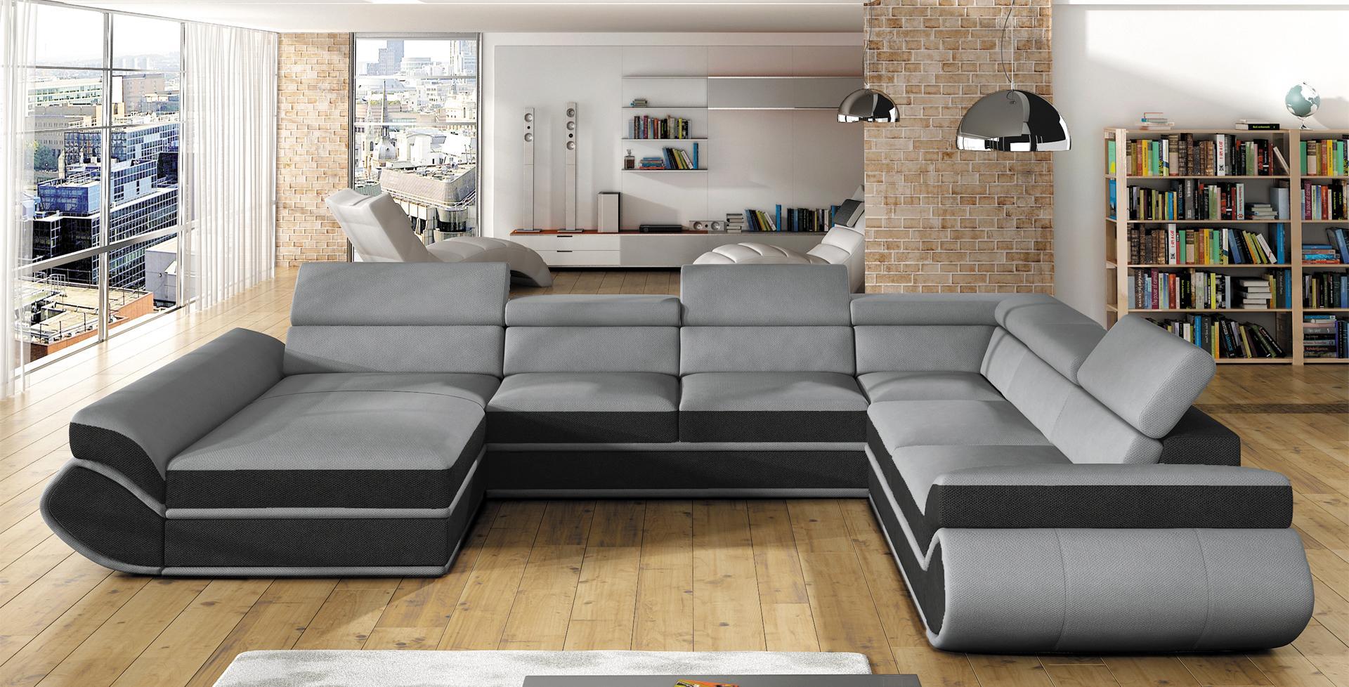 sofa schlafsofa wohnlandschaft mit bettfunktion bettkasten ecksofa u couch neu genesis xl. Black Bedroom Furniture Sets. Home Design Ideas