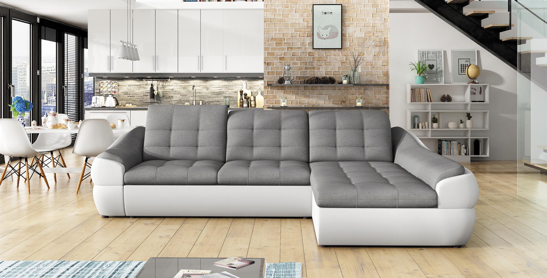 sofa schlafsofa designer sofa mit bettfunktion bettkasten ecksofa couch neu infinity mini. Black Bedroom Furniture Sets. Home Design Ideas