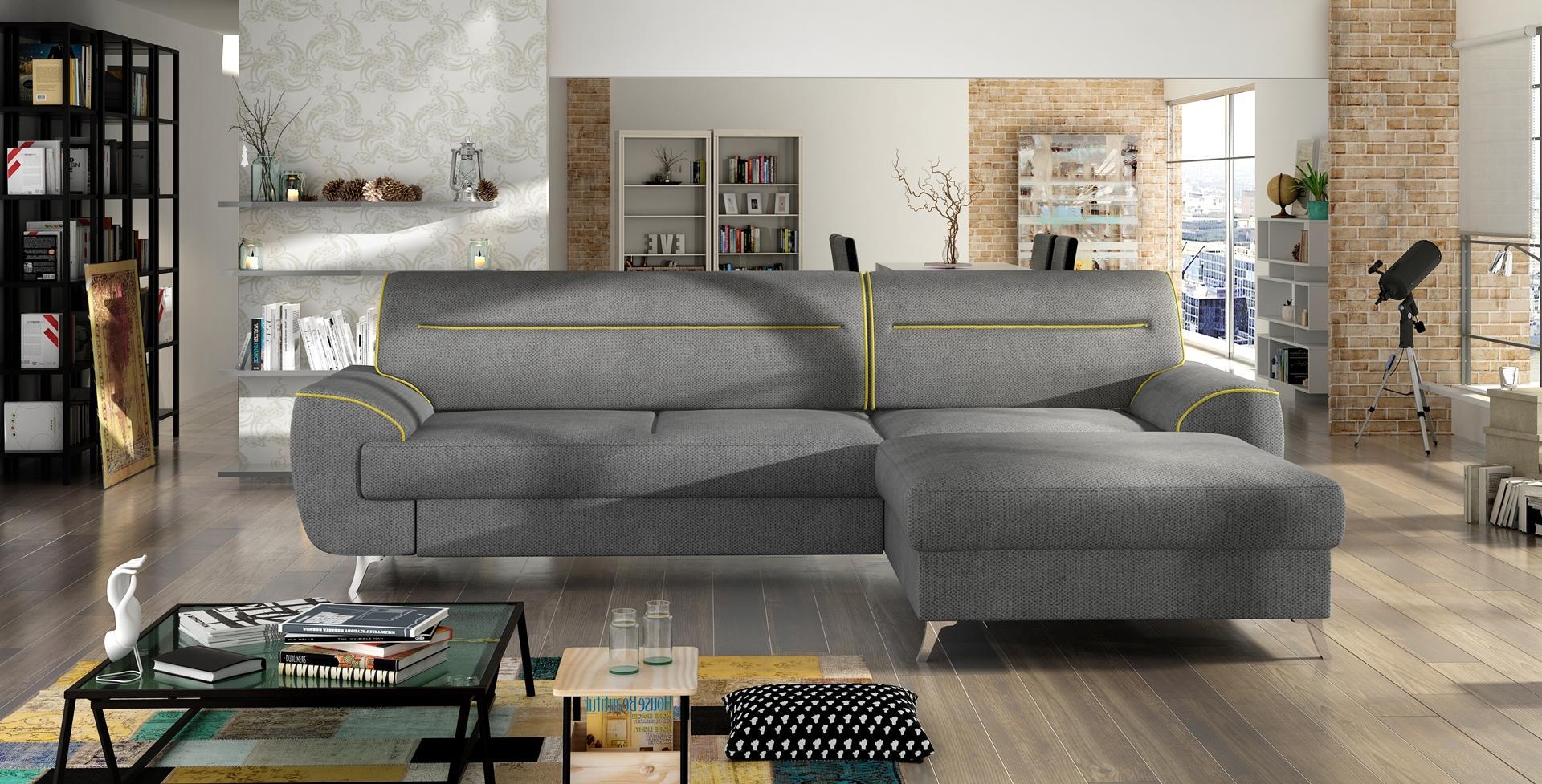 sofa schlafsofa designer sofa mit bettfunktion bettkasten ecksofa couch neu moon www. Black Bedroom Furniture Sets. Home Design Ideas