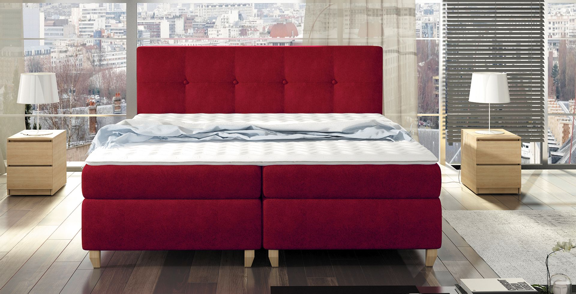 boxspringbett design bett topper federkern doppelbett polsterbett malta la. Black Bedroom Furniture Sets. Home Design Ideas
