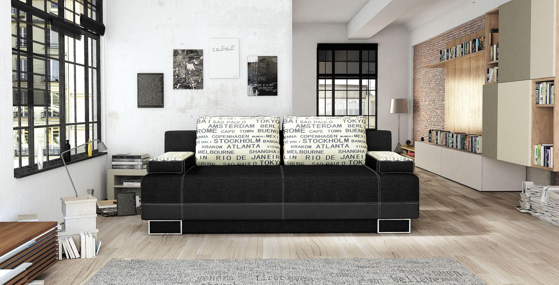 sofa schlafsofa designer 3 sitzer sofa mit bettfunktion bettkasten couch neu vegas www. Black Bedroom Furniture Sets. Home Design Ideas