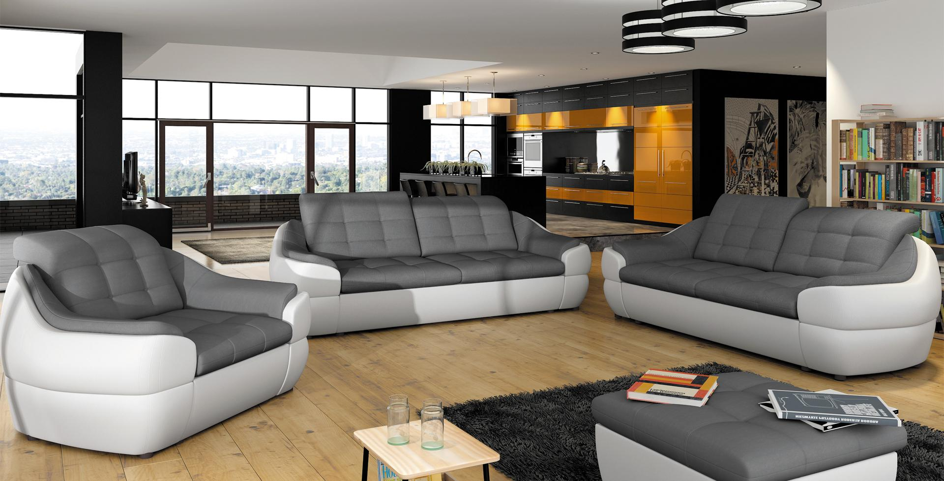 sofagarnitur sofa couch 3 2 1 garnitur mit relax funktion couchgarnitur polster infinity www. Black Bedroom Furniture Sets. Home Design Ideas