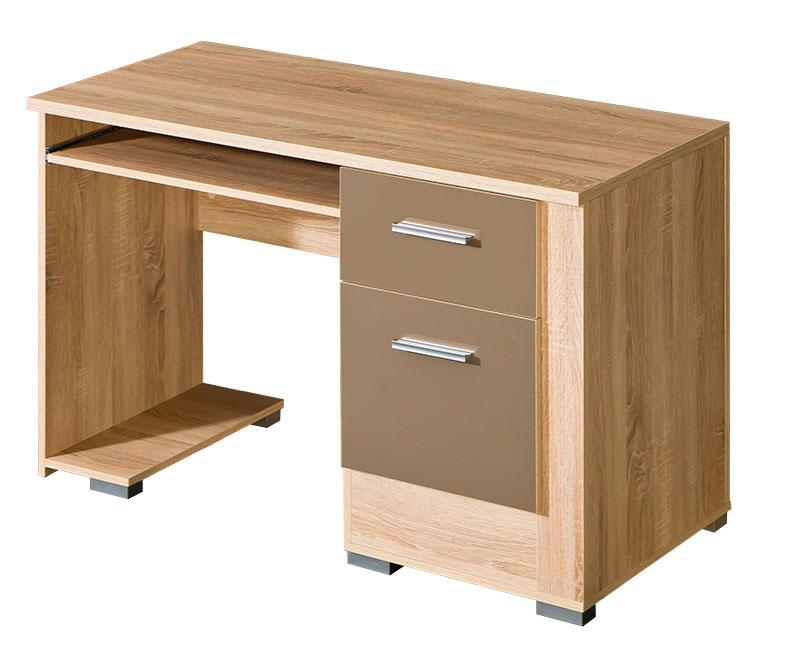 computertisch schreibtisch in sonoma eiche mit tastaturauszug b ro pc neu la. Black Bedroom Furniture Sets. Home Design Ideas