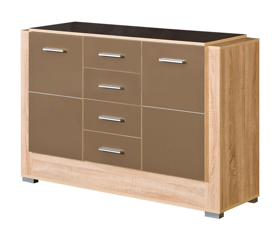 sideboard boom kommode sonoma eiche hell wohnzimmer schrank esszimmer anrichte. Black Bedroom Furniture Sets. Home Design Ideas