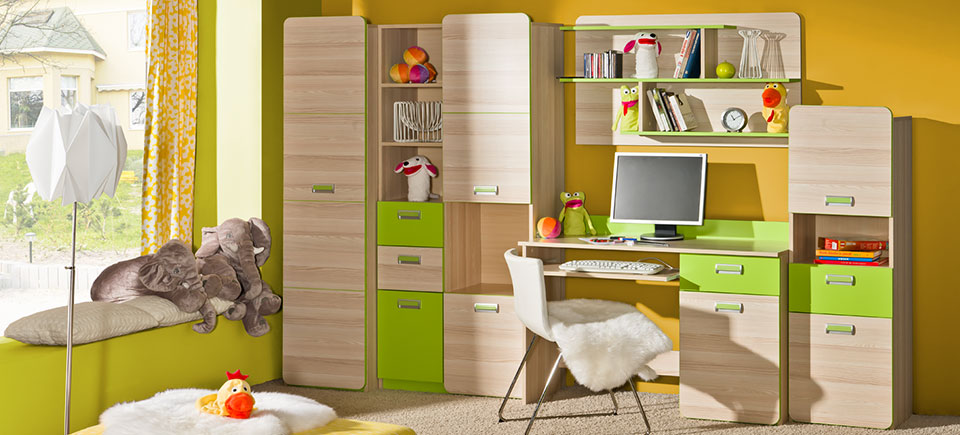 wohnwand anbauwand schrankwand wohnzimmer schrank schreibtisch kinderzimmer neu 8 www. Black Bedroom Furniture Sets. Home Design Ideas