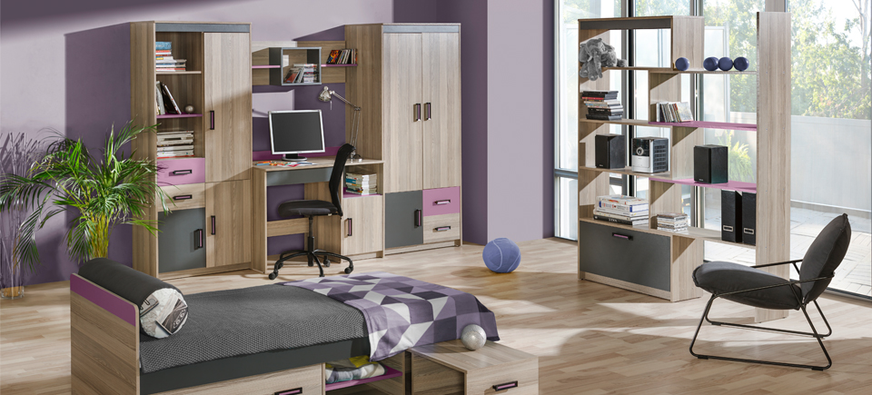 wohnwand schrankwand eck schrank kinderzimmer schreibtisch jugendzimmer neu 2. Black Bedroom Furniture Sets. Home Design Ideas