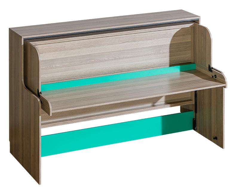 bett mit schreibtisch tisch betten kinderbett jugendbett stauraumbett neu u16. Black Bedroom Furniture Sets. Home Design Ideas