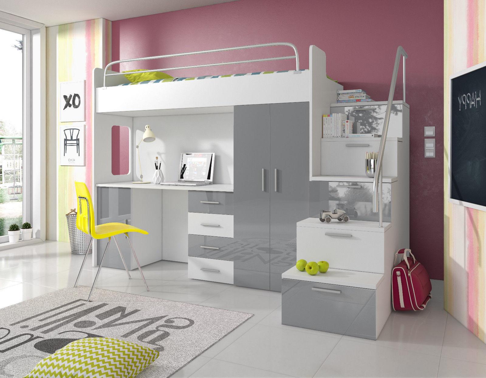 doppelstockbett stockbett bett etagenbett mit schreibtisch. Black Bedroom Furniture Sets. Home Design Ideas