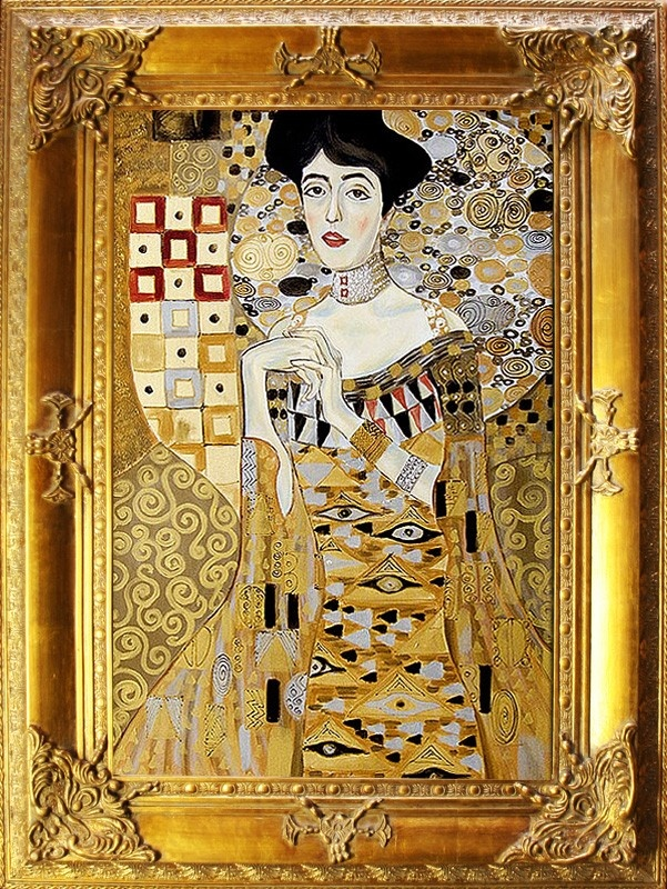 gustav klimt lbild lgem lde gem lde mit rahmen 90x120cm g00322 la. Black Bedroom Furniture Sets. Home Design Ideas