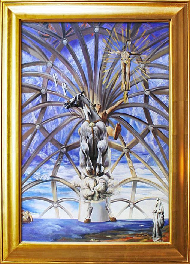 Salvador Dali 56x46cm Ölgemälde Handgemalt Leinwand Rahmen Signiert G02146