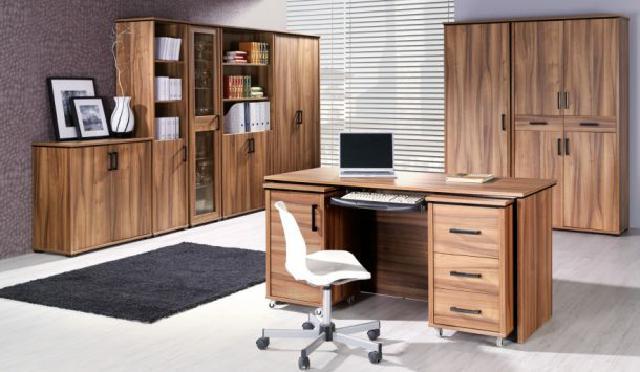 komplett set b ro arbeitszimmer chef zimmer tisch maximus. Black Bedroom Furniture Sets. Home Design Ideas