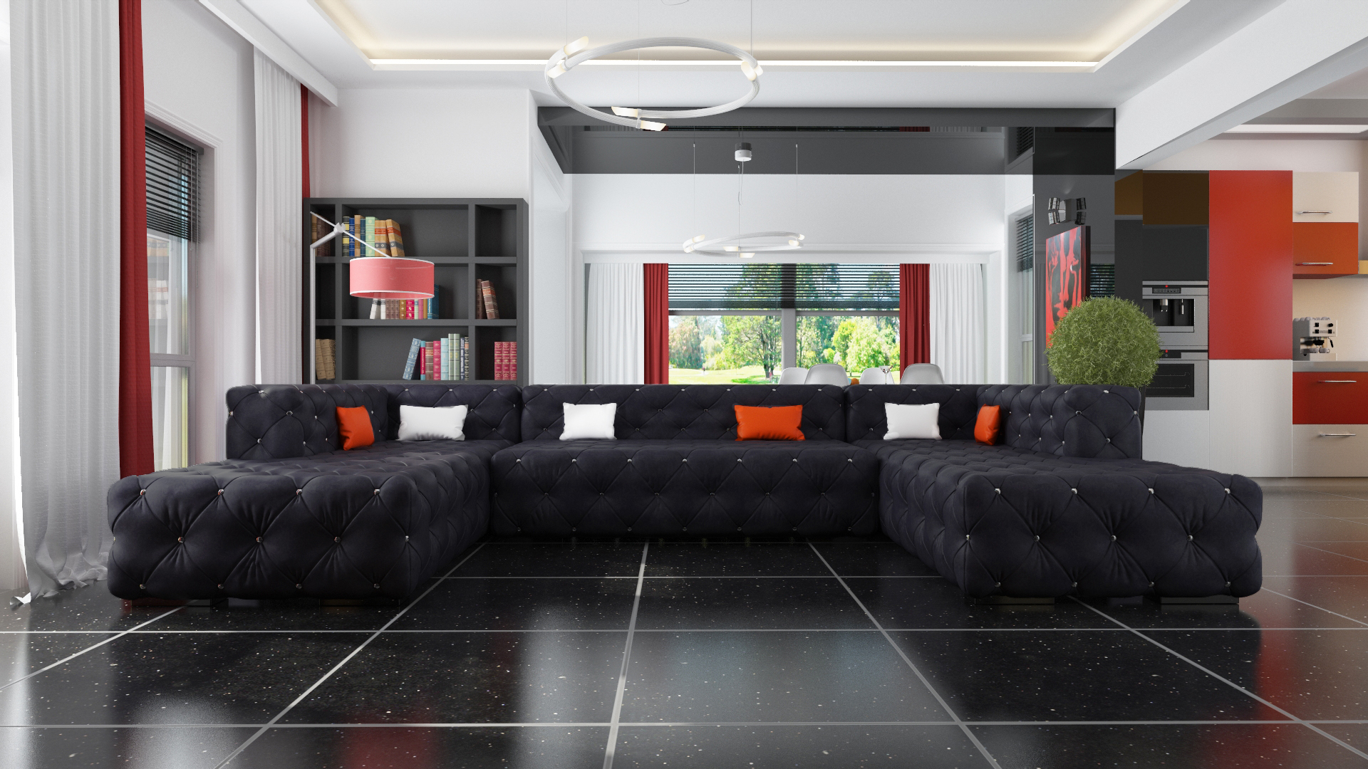 ecksofa chesterfield wohnlandschaft luxus designer sofa couch polster ecksofa ebay. Black Bedroom Furniture Sets. Home Design Ideas