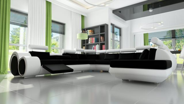 ledersofa ledercouch xxl wohnlandschaft relax couch sofa garnitur ecksofa neu ebay. Black Bedroom Furniture Sets. Home Design Ideas
