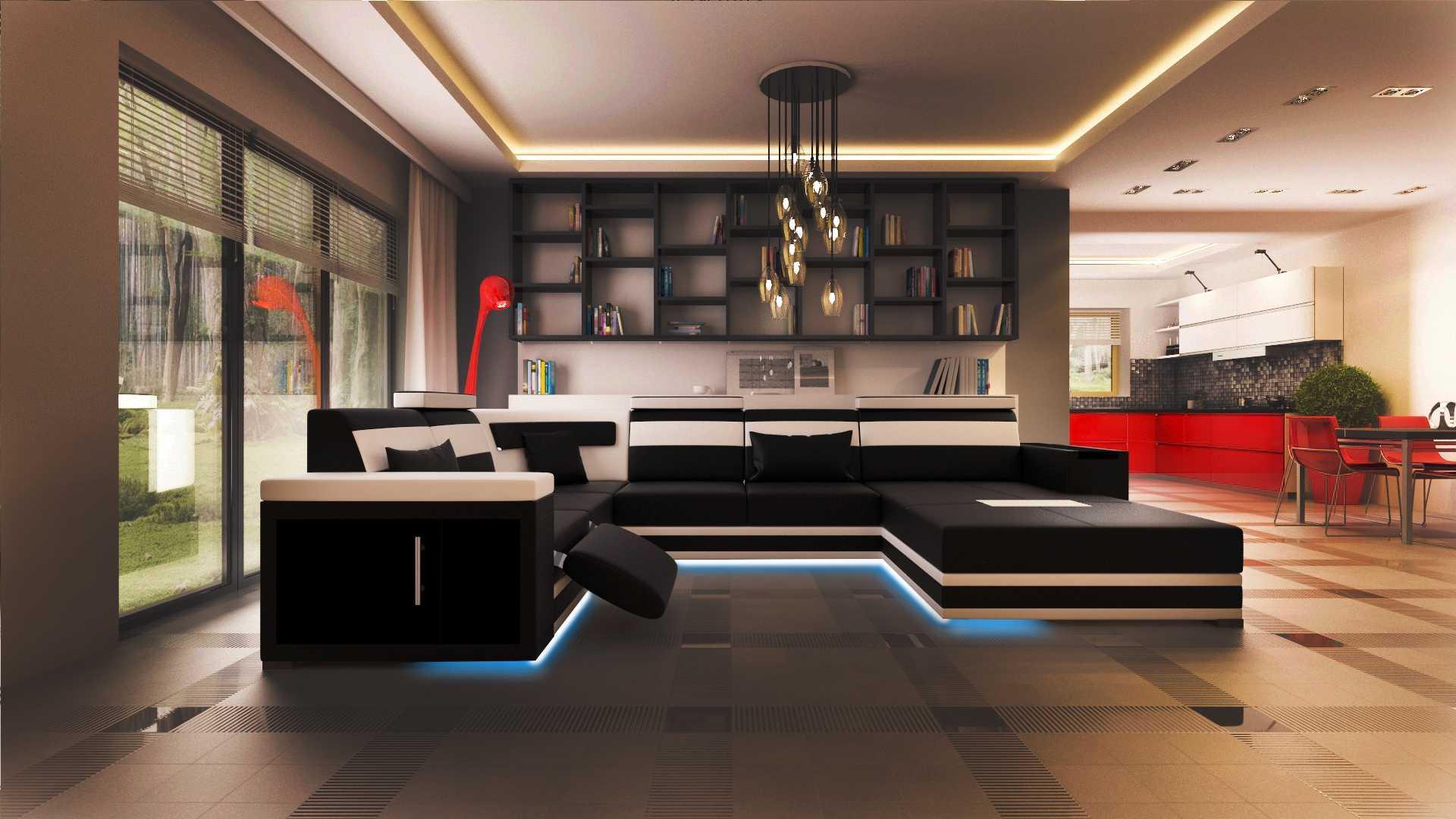 ledersofa polster sitz couch garnitur ecksofa sofa couch wohnlandschaft dresden ebay. Black Bedroom Furniture Sets. Home Design Ideas
