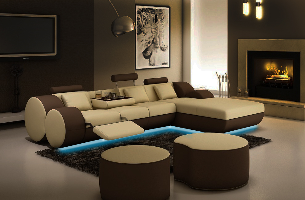 jvmoebel ledersofa couch sofa ecksofa modell madrid ii On wohnlandschaft madrid 880