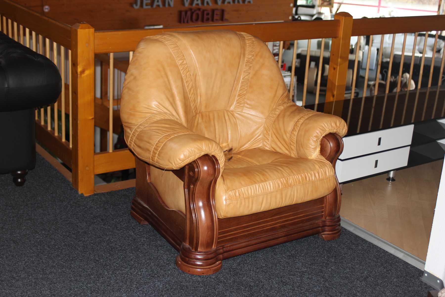 sessel elegant lounge club fernseh polster 1 sitzer sofa neu vollleder echtleder www jvmoebel. Black Bedroom Furniture Sets. Home Design Ideas
