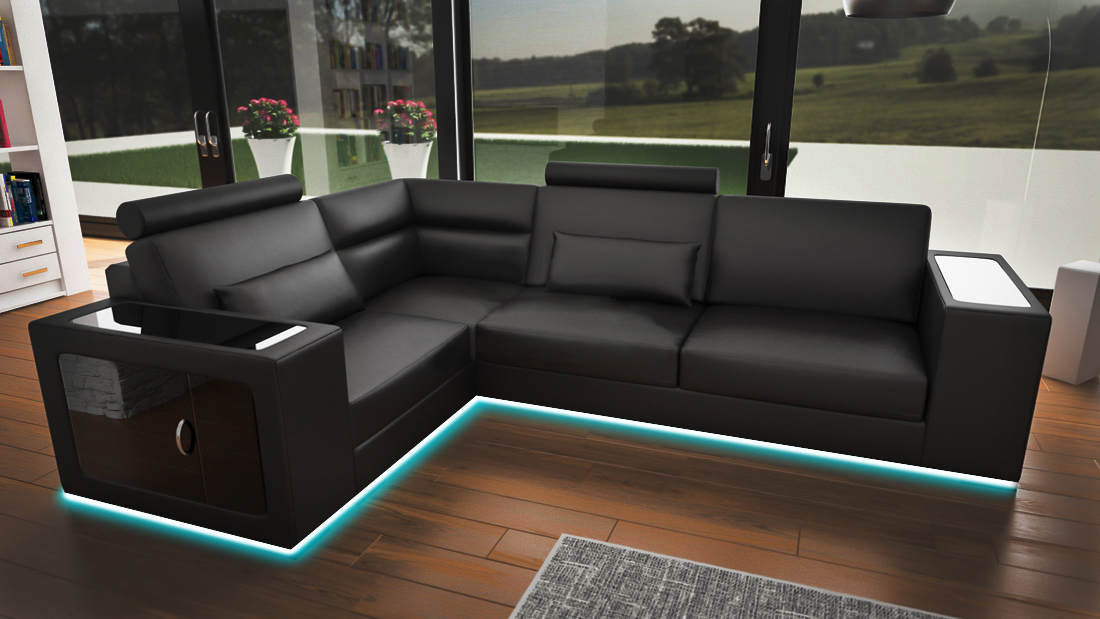 sofas und ledersofas m nchen iii bettfunktion designersofa ecksofa jv m bel. Black Bedroom Furniture Sets. Home Design Ideas