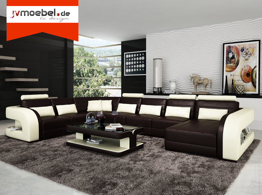 sofas und ledersofas bergamo u designersofa ecksofa bei jv m bel. Black Bedroom Furniture Sets. Home Design Ideas