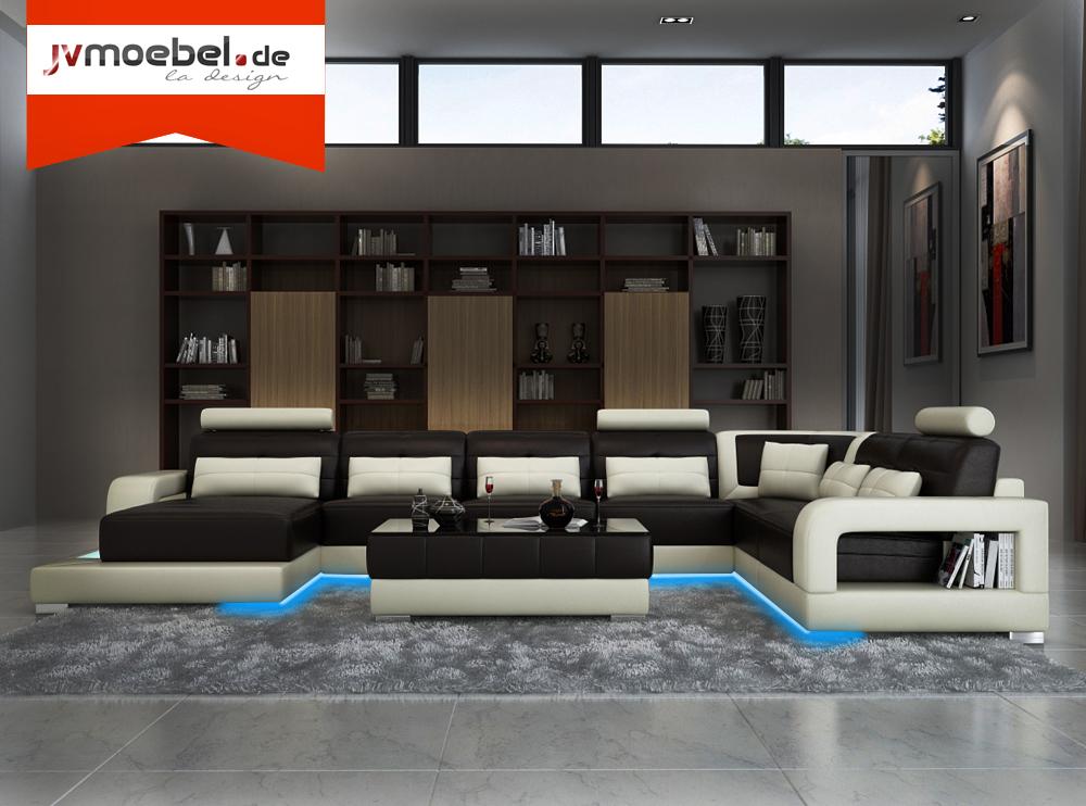 sofas und ledersofas h2209 xxl designersofa ecksofa bei jv m bel. Black Bedroom Furniture Sets. Home Design Ideas